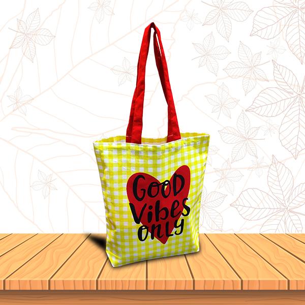 Cotton Gingham Bag - Thumbnail Image